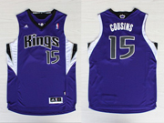 Mens Nba Sacramento Kings #15 Cousins Purple Jersey