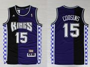 Mens Nba Sacramento Kings #15 Cousins Purple&black Hardwood Classics Jersey