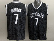 Mens Nba Brooklyn Nets #7 Johnson Black Leopard Grain Jersey