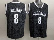 Mens Nba Brooklyn Nets #8 Williams Black Leopard Grain Jersey