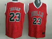 Mens Nba Chicago Bulls #23 Jordan Red Leopard Grain Jersey