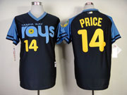 Mens mlb tampa bay rays #14 price dark blue (back 1970 version) Jersey