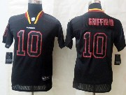 Youth Nfl Washington Redskins #10 Griffin Iii Black (lights Out) Elite Jersey