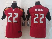 Youth Nfl Tampa Bay Buccaneers #22 Martin Red Limited Jersey