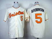 Mens mlb baltimore orioles #5 robinson cream throwbacks Jersey