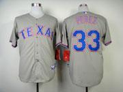 Mens Mlb Texas Rangers #33 Perez Gray Jersey