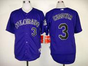 Mens mlb colorado rockies #3 cuddyer purple Jersey
