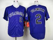 Mens mlb colorado rockies #2 tulowitzki purple Jersey