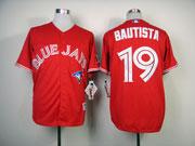 mens mlb Toronto Blue Jays #19 Jose Bautista red jersey