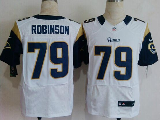 Mens Nfl St. Louis Rams #79 Rodinson White Elite Jersey
