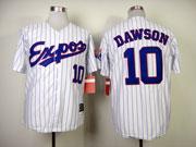 Mens Mlb Montreal Expos #10 Dawson White (blue Stripe) 1982 Throwbacks Jersey
