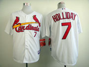 women mlb st. louis cardinals #7 holliday white Jersey