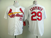 Mens mlb st.louis cardinals #29 carpenter white 2011 world series cool base Jersey