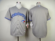 Mens Mlb Toronto Blue Jays (blank) Gray Jersey