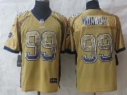 Mens Nfl St. Louis Rams #99 Donald Drift Fashion Gold Elite Jersey