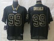 Mens Nfl St. Louis Rams #99 Donald Lights Out Black Elite Jerseys
