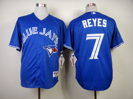 Mens mlb toronto blue jays #7 reyes blue 2012 new style Jersey
