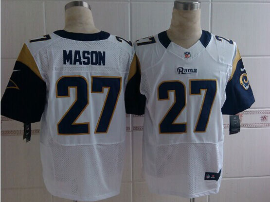 Mens Nfl St. Louis Rams #27 Mason White Elite Jersey