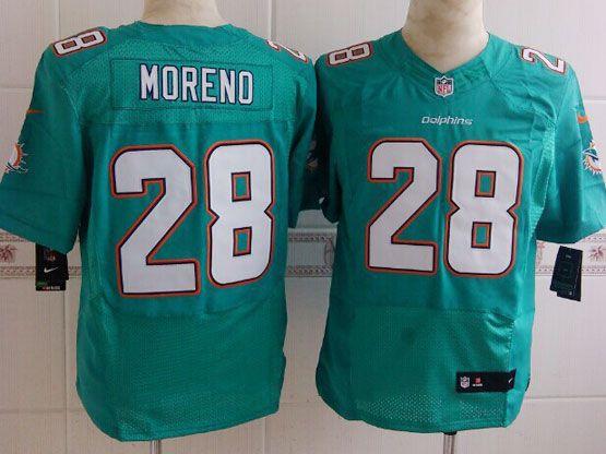 Mens Nfl Miami Dolphins #28 Moreno Green (2013 New) Elite Jersey