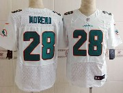 Mens Nfl Miami Dolphins #28 Moreno White (2013 New) Elite Jersey