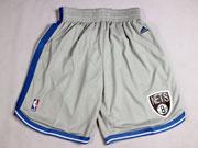 Nba Brooklyn Nets Light Gray Short (new Mesh Style)