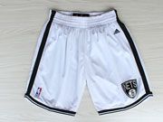 Nba Brooklyn Nets White Short (new Mesh Style)