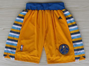Nba Denver Nuggets Yellow Short (new Mesh Style)