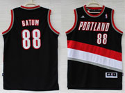 Mens Nba Portland Trail Blazers #88 Batum Black Revolution 30 Jersesy (p)