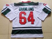 Mens reebok nhl minnesota wild #64 granlund white Jersey