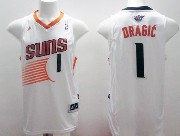 Mens Nba Phoenix Suns #1 Dragic White (2014 New Black Number) Jersey
