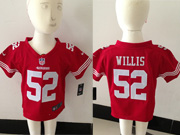 Kids Nfl San Francisco 49ers #52 Willis Red Jersey