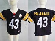 Kids Nfl Pittsburgh Steelers #43 Polamalu Black Jersey