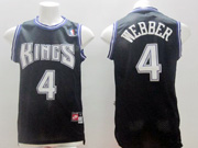 Mens Nba Sacramento Kings #4 Webber Black Nk Jersey (m)