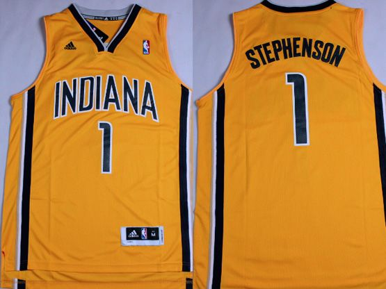 Mens Nba Indiana Pacers #1 Stephenson Yellow Revolution 30 Jersey (p)