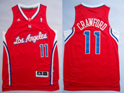 Mens Nba Los Angeles Clippers #11 Crawford Red Revolution 30 Jersesy (p)