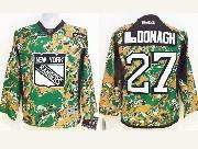 youth reebok nhl new york rangers #27 mcdonagh (2014 green camo) Jersey