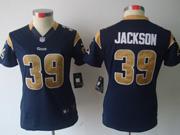 Women Nfl St.louis Rams #39 Jackson Blue Limited Jersey