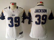 Women  Nfl St.louis Rams #39 Jackson White Limited Jersey