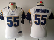 Women Nfl St.louis Rams #55 Laurinaitis White Limited Jersey