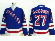 youth reebok nhl new york rangers #27 mcdonagh light blue Jersey