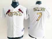 Youth Mlb St.louis Cardinals #7 Holliday (gold Number) White Jersey