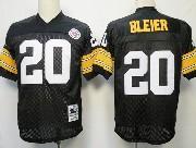 Mens nfl pittsburgh steelers #20 bleier black throwbacks Jersey