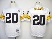 Mens nfl pittsburgh steelers #20 bleier white throwbacks Jersey