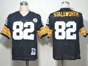 Mens nfl pittsburgh steelers #82 stallworth black throwbacks Jersey