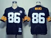Mens nfl pittsburgh steelers #86 ward black throwbacks Jersey