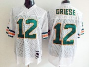 Mens nfl miami dolphins #12 griese white throwbacks Jersey