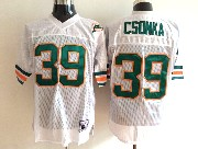 Mens nfl miami dolphins #39 csonka white throwbacks Jersey