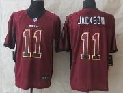 Mens Nfl Washington Redskins #11 Jackson Drift Fashion Red Elite Jersey