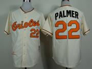 Mens Mlb Baltimore Orioles #22 Palmer Cream 1970 Throwbacks Jersey
