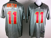 Mens Nfl San Francisco 49ers #11 Smith Gray Shadow Elite Jersey